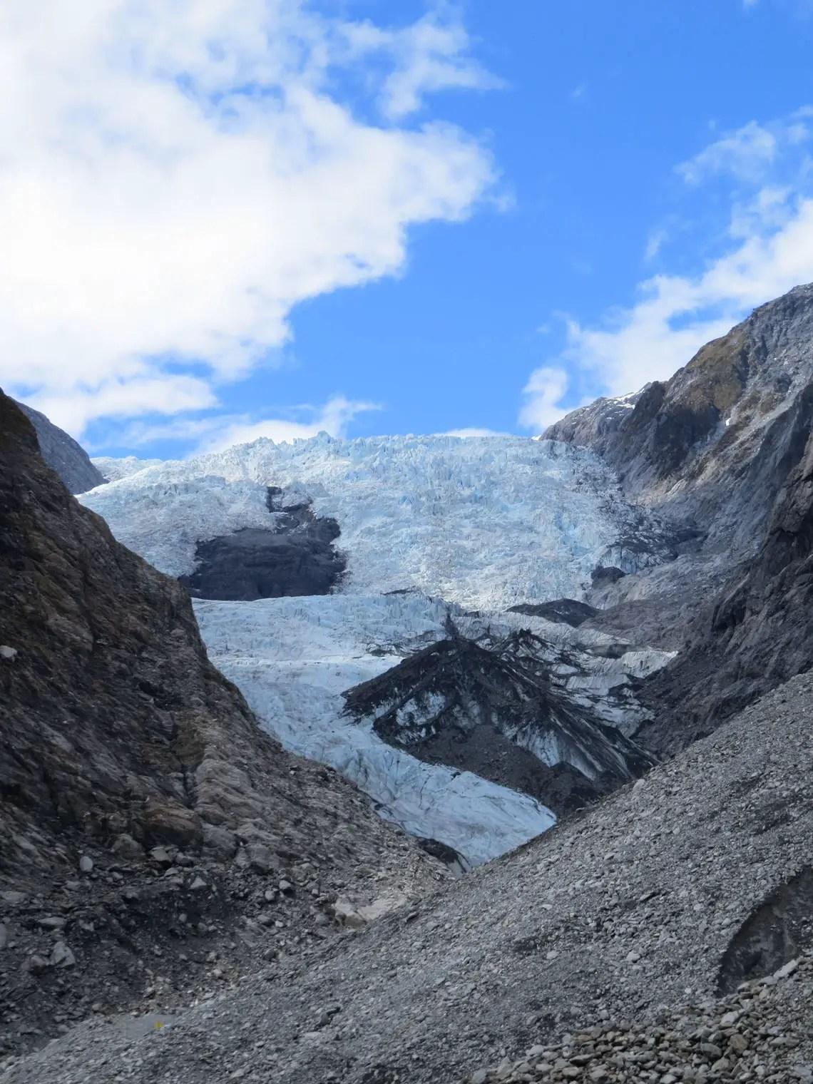 Der Gletscher hat sich schon weit zurück gezogen