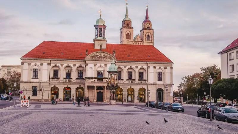 Magedburger Reiter und Rathaus
