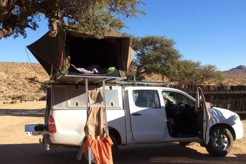 Namibia Roadtrip mit Dachzelt