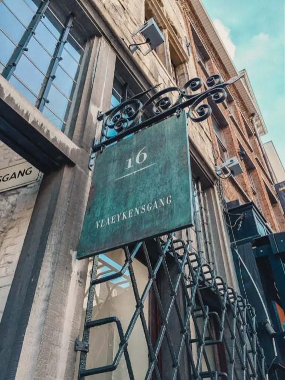 Vlaeykensgang – Antwerpen Sehenswürdigkeiten
