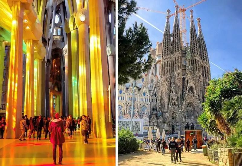 Sagrada Familia von innen und außen