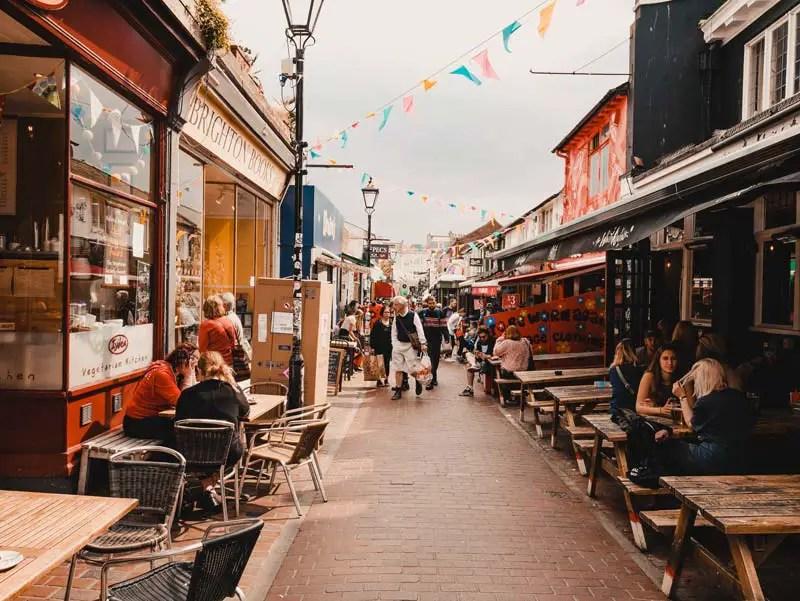 Brighton Sehenswürdigkeiten The Lanes