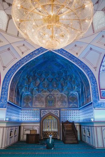 Buchara Sehenswuerdigkeiten: Die Bolo Hovuz Moschee von innen