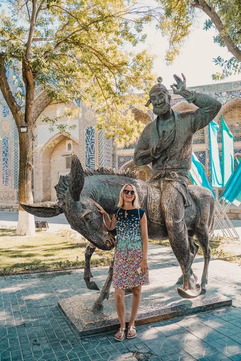 Buchara Fotospot: Nasreddin Statue