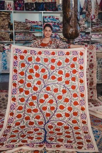 Buchara Shopping Tipps: Suzani Workshop