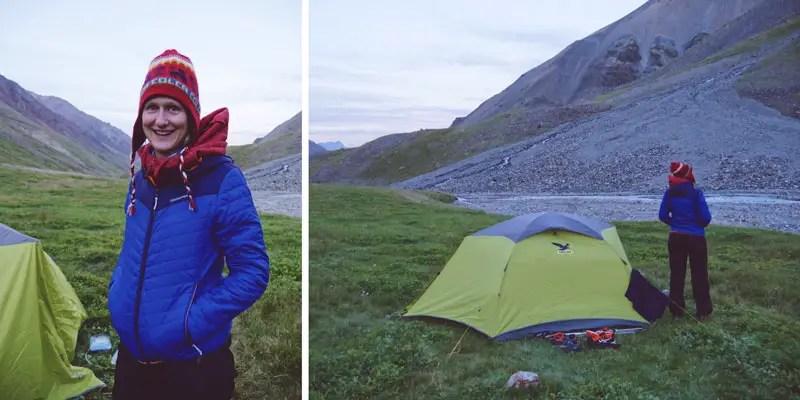 Unser Zeltlager, Trekking Kirgistan