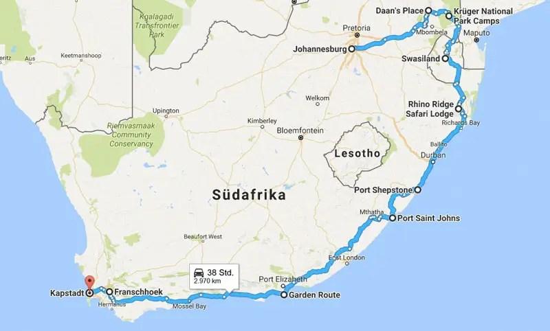 Karte Südafrika Garden Route.Südafrika Rundreise Routen 9 Südafrika Routen Tipps Und Highlights