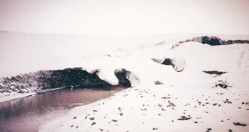 Island Eishöhlen Vatnajökull Einstieg