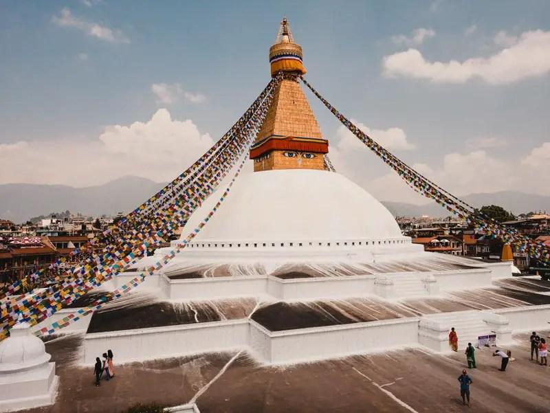 Kathmandu Sehenswürdigkeiten Bodnath Stupa