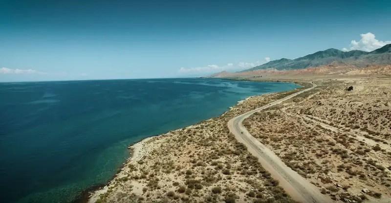 Kirgistan Drohnenvideo Issyk Kul Lake