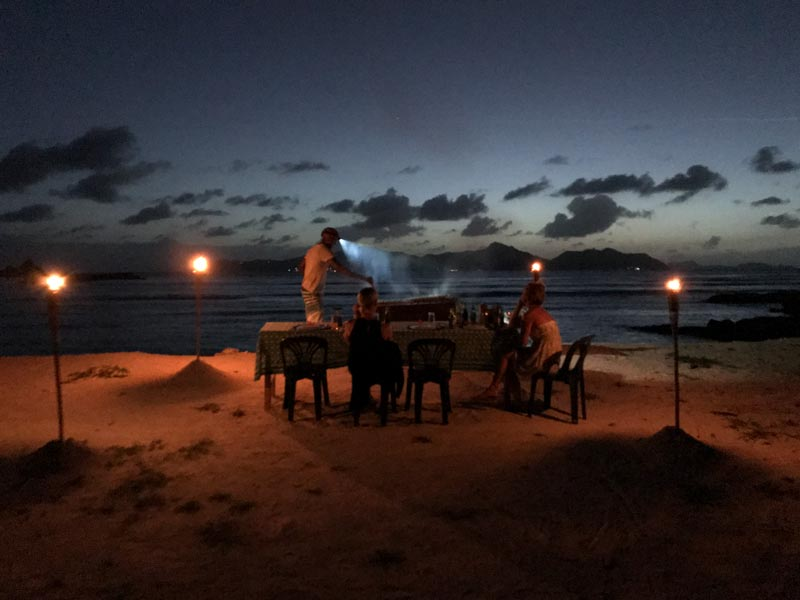 La Digue Sunset Barbecue Dinner