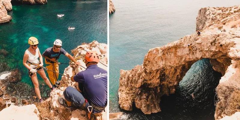 Malta Highlights Abseiling Blaue Grotte