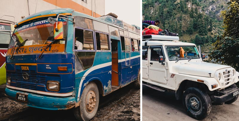 Annapurna Circuit oder Manaslu Circuit Anreise Abreise