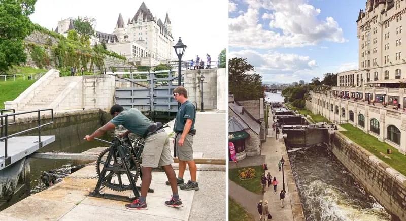 Rideau Locks Ottawa Sehenswürdigkeiten