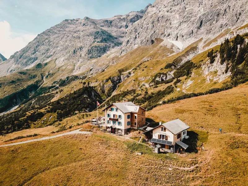 Schesaplana Hütte Prättigauer Höhenweg