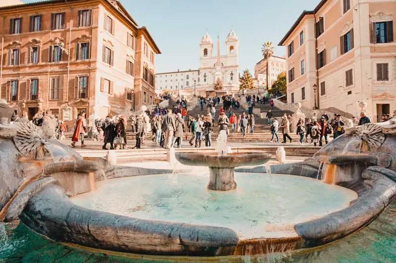 Rom Sehenswürdigkeiten Spanische Treppe