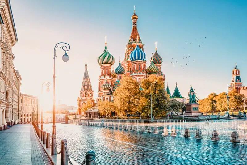 Russland Sehenswürdigkeiten, Highlights und Reisetipps Basilius-Kathedrale