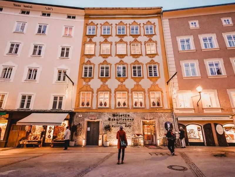 Mozarthaus – Salzburg Sehenswürdigkeiten im Winter