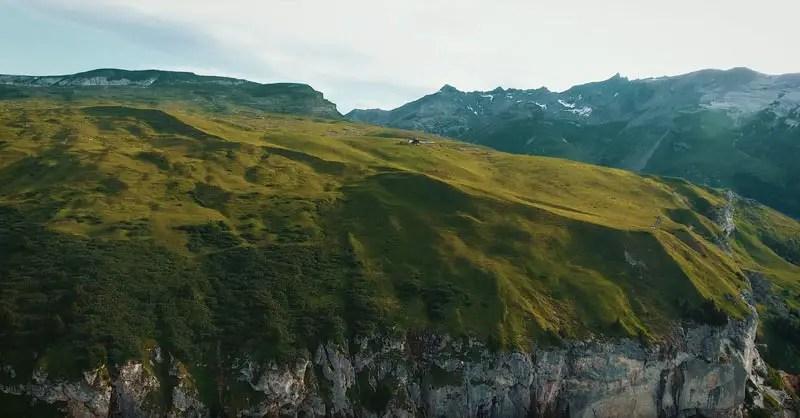 Schweiz Drohnenvideo Alp Flimserstein