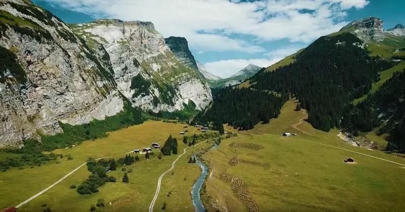 Schweiz Drohnenvideo Scala Mola
