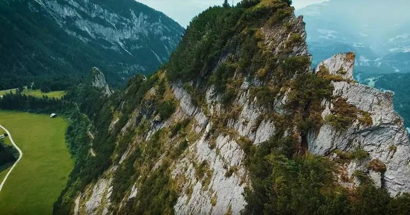 Schweiz Drohnenvideo Bargiskante