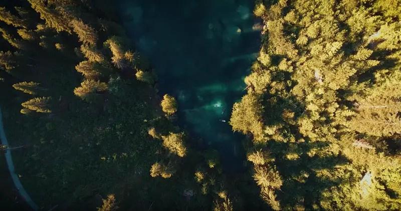 Schweiz Drohnenvideo Crestasee