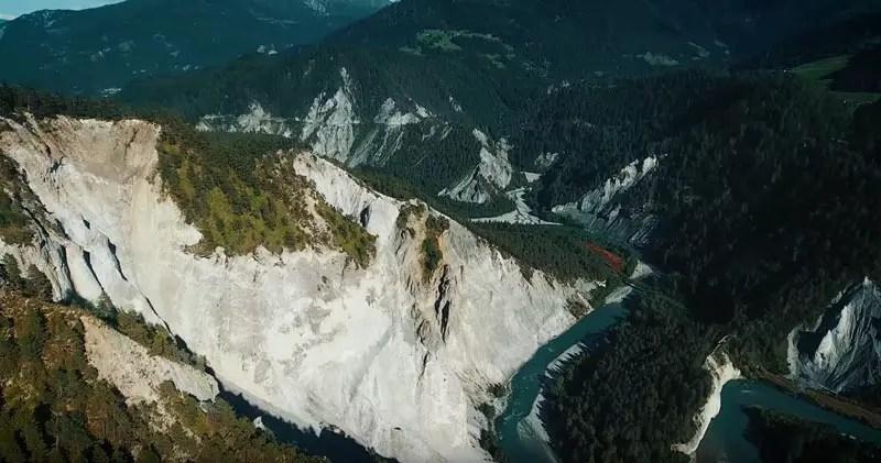 Schweiz Drohnenvideo Rheinschlucht