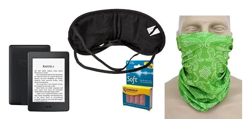 Packliste Südafrika Schlafmaske