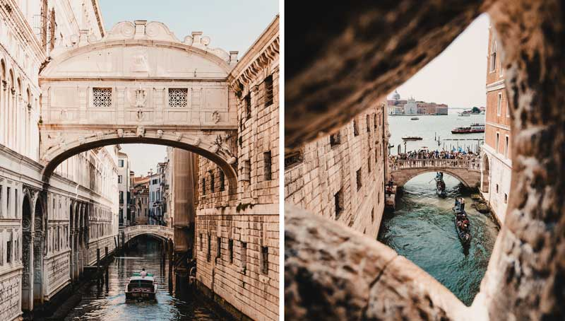 Venedig Sehenswürdigkeiten Seufzerbrücke