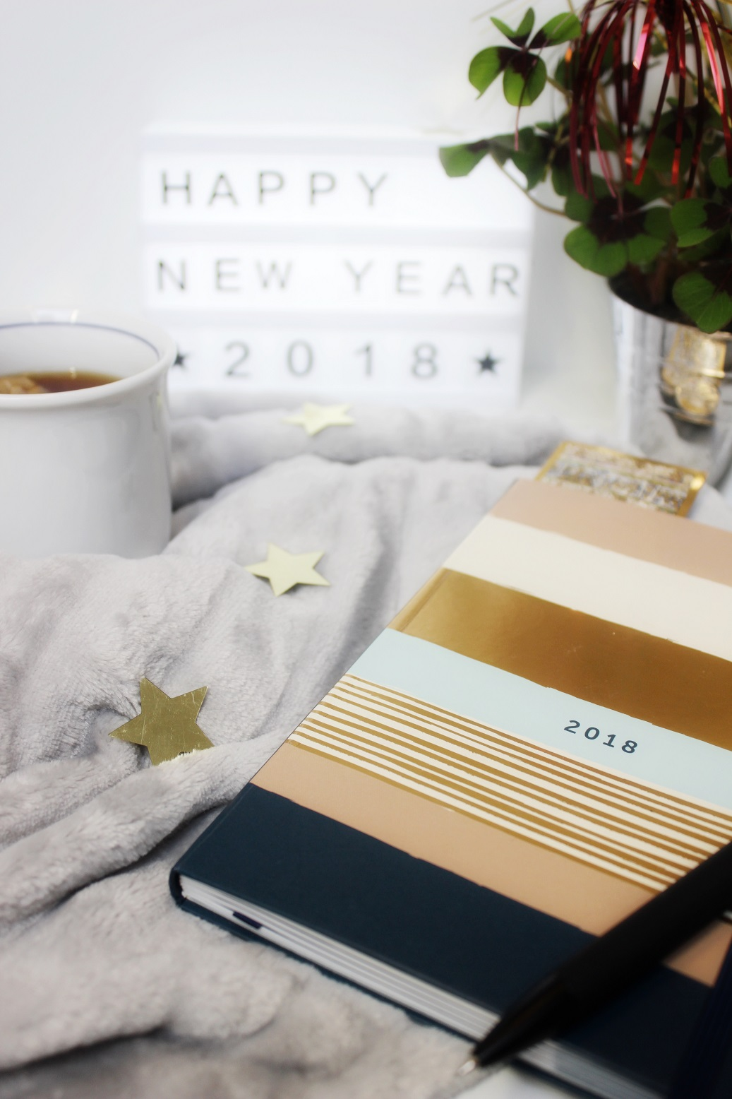 Kalender und Glücksklee