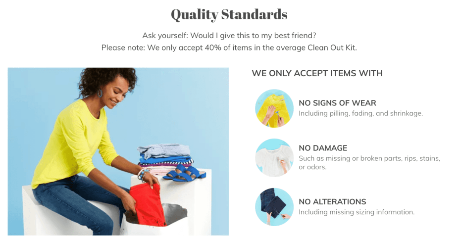 threadUP Review: Is it worth sending in your clothes? thread-up-standards