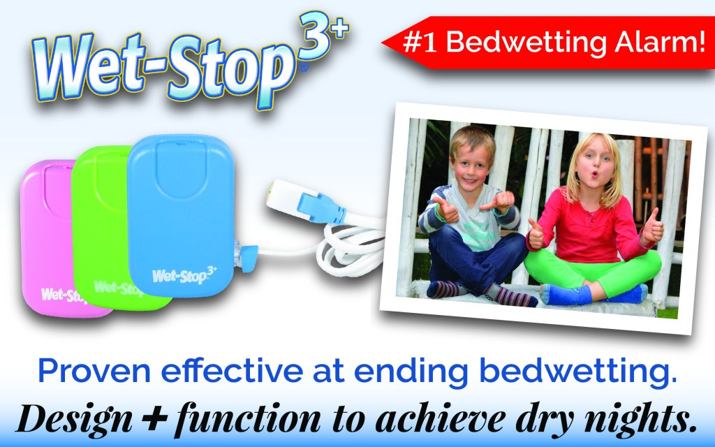Wet-Stop 3+, #1 Bedwetting alarm, is proven effective at ending bedwetting. Design plus function to achieve dry nights.