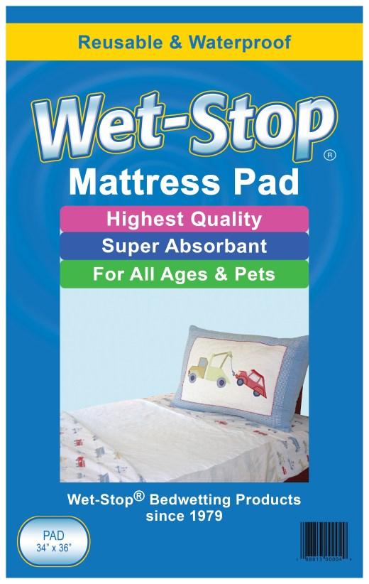 "Wet-Stop 34"" x 36"" mattress pad"