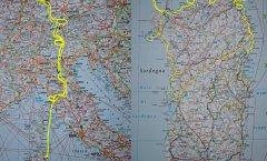 // Sardinien Sept.-Okt. 2019: Nord-Osten und Nord-Westen (Pisa-Livorno-Olbia-Pisa-Allgäu-Mosel)//