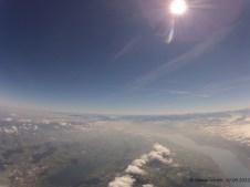 4233.5 m ü. M., 1.06°C: Sicht in Richtung des späteren Landeortes