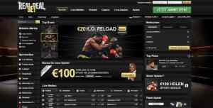 Real Deal Bet Sportwetten Menü