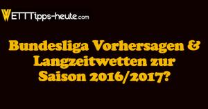 Bundesliga Prognose Vorhersage Zur Saison 2016 2017