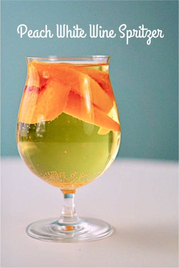 As spring appraoches, my mind finds itself wandering to warm, lazy, weekends. I am ready for flowers, sunshine and a peach white wine spritzer~By Wet Whislte Drinks by Darla Bentley