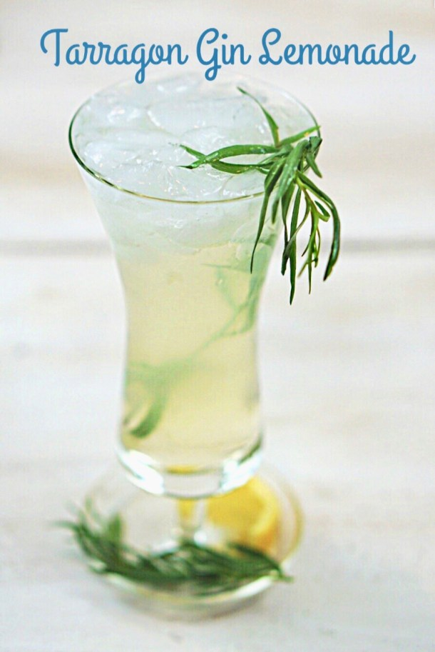 Tarragon Gin Lemonade exists on a higher plane than other gin and lemon cocktails. Its slight anise flavor enhances the lemon and highlights the herbaceous tones of the gin. Add in a bit of Elderflower and the result is a bright, crisp cocktail that is perfect for a hot summer's evening!~By Wet Whistle Drinks by Darla Bentley