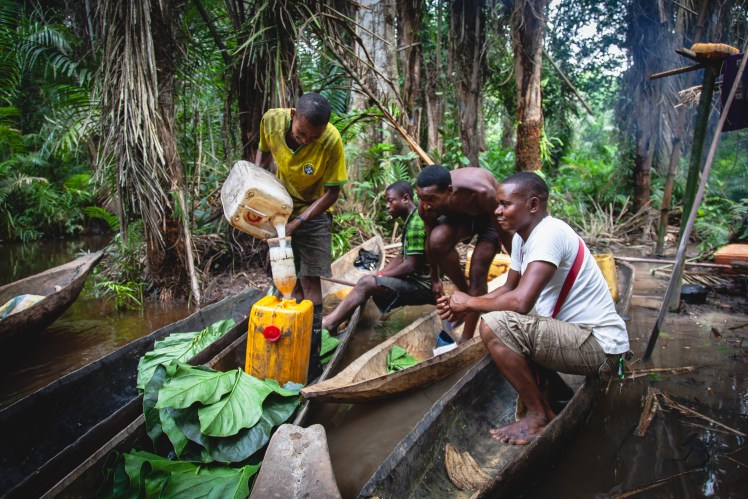Central African Republic palm wine distillery