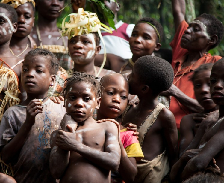 Pygmy village, Cameroon