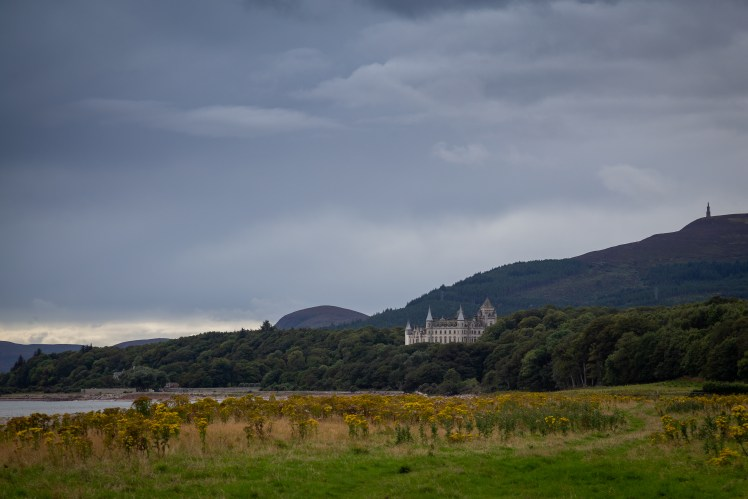 View from the coast - Dunrobin Castle, Scotland