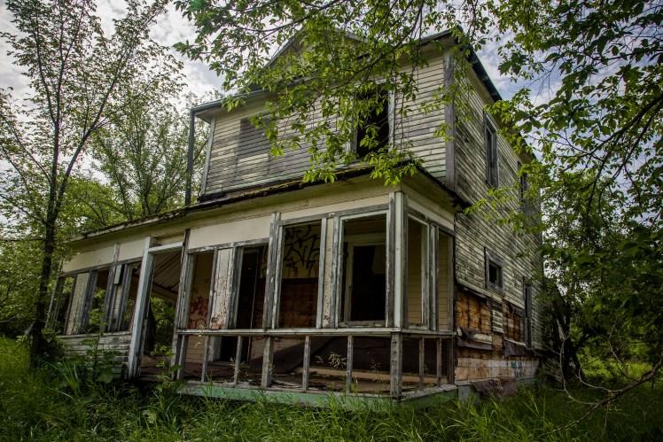 Abandoned Manitoba ghost town of Ste. Elizabeth.