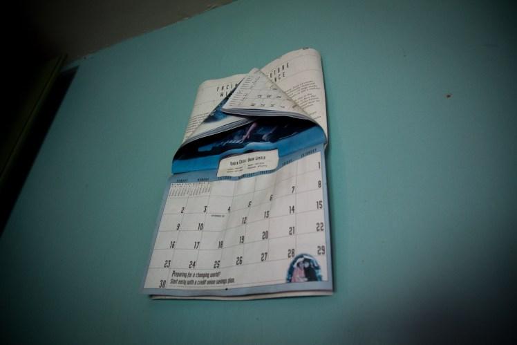 Calendar from 2006, abandoned house, rural Manitoba.