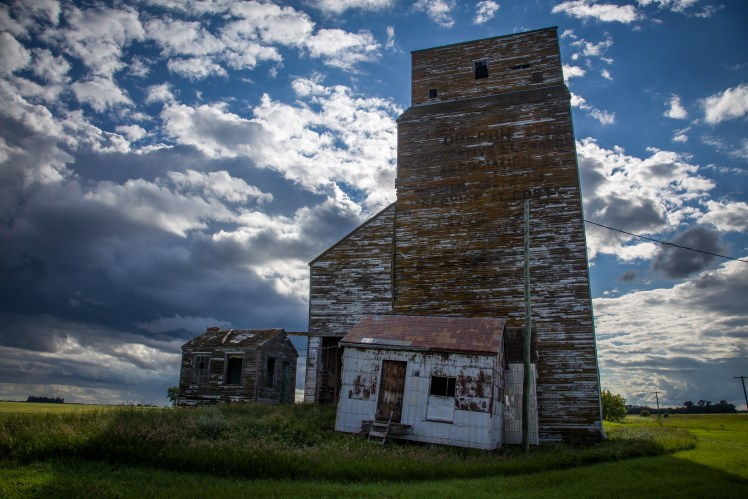 One of the few remaining structures in Oberon, Manitoba.