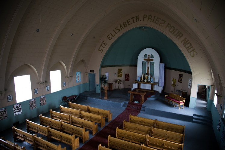 Inside the beautiful (and still maintained) church in Ste. Elizabeth.