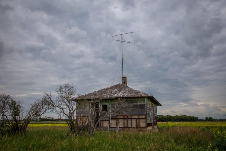 Forgotten farm houses.