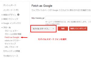 ウェブマスター ツール   Fetch as Google   http   wevery.jp