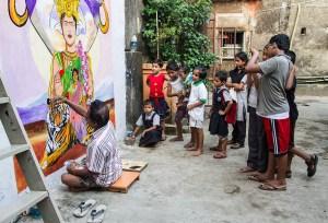 Painting a Mural for Priya's Shakti
