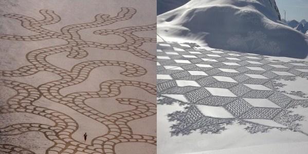 Sabbia vs Neve / Andres Amador e Simon Beck